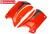 HPI102238 Karosserie Seitenteil HPI Baja 5B-1, Rot/Weiß/Grau, Set
