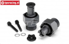 HPI105612 Radachse vorne HD, Gun-Metal, 2 st