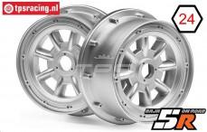 HPI115765 Felge ML-8 Silber, 2 st