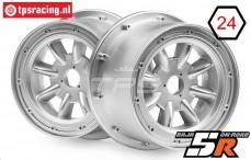 HPI115766 Felge ML-8 Silber, 2 st