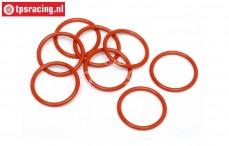 HPI75071 O-ring Dämpferverschluss unten, 8 st.