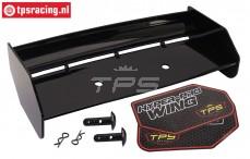 TPS85451/10 Nylon Heckspoiler Schwarz HPI-Rovan, Set
