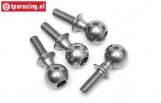 HPI86411 Stahl Gelenkkügel, M4-Ø10, 4 st