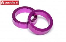 HPI86616 Hauptzahnrad Distanz Violett, 2 st.