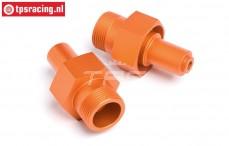 HPI87493 Radachse vorne Orange, 2 st