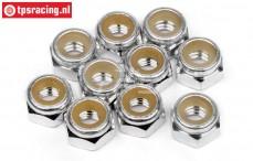 HPIZ866 Aluminium Stopmutter M4-Silber, 10 Stk.