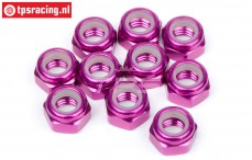 HPIZ867 Aluminium Stopmutter M4 Violett, 10 St