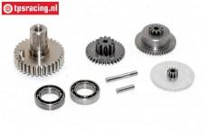 Getriebe Komplett, JX-BLSHV7132MG servo, Set