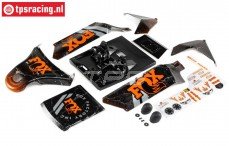 LOS250043 DBXL-E 2.0 Fox Karosserie, Set