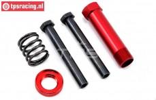 LOS251015 Servo-Saver Achse Rot DBXL, Set