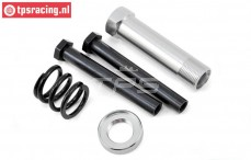 LOS251044 Servo-Saver Achse Silber MTX-DBXL-E, Set
