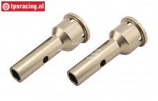 LOSB3223 Radachse aluminium 5T-5B-DTT7, 2 st.