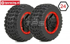 LOS45004 DBXL Reifen auf Felge Ø175-B70 mm, 2 st.