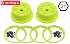 LOS45024 Felgen mit ringen Gelb, Set