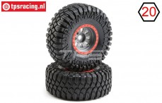 LOS45029 Maxxis Creepy Crawler montiert Super Rock Rey, 2 st.