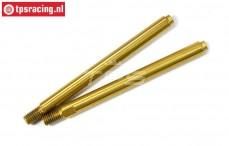 LOSB2862 Stoßdämpferstange nitriert LOSI-BWS-TLR