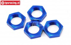 LOSB3227 Radmutter Blau 25 mm LOSI 5T-BWS-TLR, 4 st.