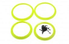 Felgenringe, (LOSI HD, Gelb Neon kunststoff Ø110 mm), 4 stk.