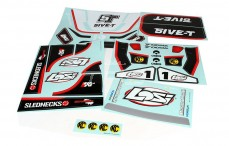 LOSB8256 Stickers, (LOSI 5IVE-T 4WD, Weis), Set.