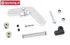 Servohebel TPS, (15Z, LOSI DBXL), (Silber Aluminium), Set