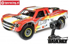LOS05013T2 LOSI Super Baja Rey 4WD Desert Truck Brushless RTR, Rot