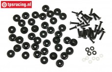 BWS59082/02 Karosserie Schrauben/ringen BWS-LOSI, Set