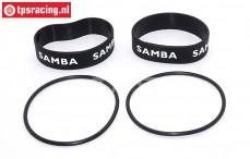 SAM4811Z Samba Resorohr Ringen Ø60-Ø70 mm Schwarz, Set