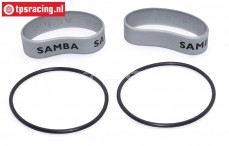 SAM4811S Samba Resorohr Ringen Ø60-Ø70 mm Silber, Set