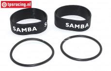 SAM7112Z Samba Silikon rohr Ø50-Ø60 mm Schwarz, Set