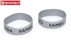 SAM7114S Samba Resorohr Ringen Ø50-Ø60 mm Silber, 2 st.