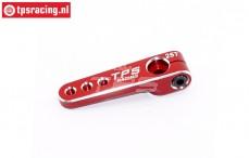 TPS0800/04 Aluminium-Servohebel 25Z- L40 mm Rot, 1 st.