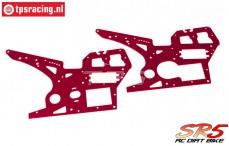 SK700002/13 SkyRC SR5 Seitenrahmen Rot, Set