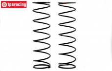 TLR253007 Stoßdämpferfeder Hinten, 6.1 lb, (TLR 5IVE-B), (Rot), Satz