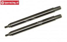 TLR353002 Tuning Dämpferkolbenstange kurz 5B-5T-MINI, 2 st.