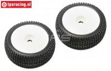TLR45005 Reifen auf Felgen TLR Weiß, 2 St.