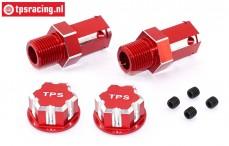TPS0292/02 24 mm Sechskant-Radadapter Rot, 2 St.