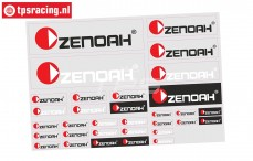 ZN8000 Powered by Zenoah Aufkleber, 1 st.